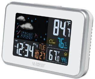 La Crosse Technology 308 145 White Wireless Color weather station with USB charge port   Lacrosse Color Weather Station
