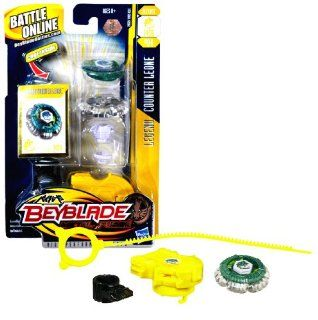 Hasbro Beyblade Metal Fusion High Performance Battle Tops   Defense 145D BB04 LEGEND COUNTER LEONE with Face Bolt, Leone Energy Ring, Counter Fusion Wheel, High Profile 145 Spin Track, Defense D Performance Tip and Ripcord Launcher Plus Online Code: Toys &