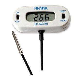 Hanna Instruments HI147 00 Checkfridge C Remote Sensor Thermometer with Stainless Steel Thermistor Probe,  50.0 to 150.0 Degree C Range: Industrial & Scientific