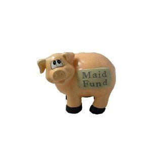 J & D Designs Piggy Bank   Maid Fund * Savings Coins Money Ceramic   Toy Banks