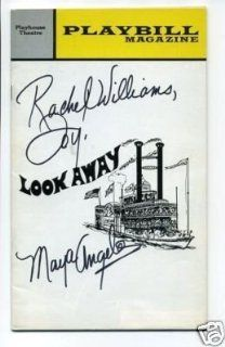 Maya Angelou Look Away Signed Autograph Opening Night Playbill   Memorabilia: Collectibles & Fine Art