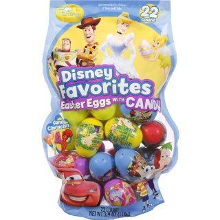 DISNEY PRINCESSES TOY STORY DISNEY FAIRIES EASTER EGGS with CANDY PACKAGE OF 22  Chocolate And Candy Assortments  Grocery & Gourmet Food