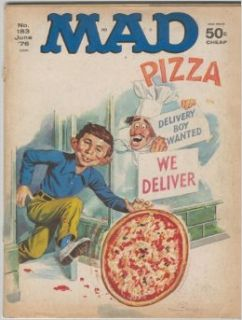 "Mad No. 159 June '76 Alfred E. Neuman Pizza Cover with ""Dog Day Afternoon"" Satire (1): ALFRED E. NEUMAN: Books"