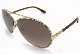TOM FORD Georgette TF 154 Sunglasses TF154 Gold/Brown 28F Shades: Shoes