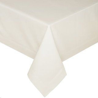 Kaf Home Hotel 90 by 156 Inch Tablecloth, Ecru   Table Linen