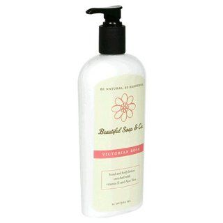 Beautiful Soap & Co. Hand & Body Lotion, Victorian Rose, 12 oz (360 ml) (Pack of 2): Beauty