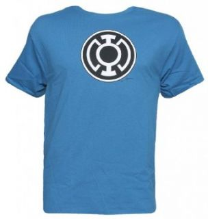 Officially Licensed DC Comics Blue Lantern Symbol T Shirt Clothing