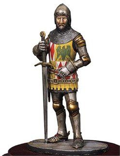1400 Knight of the British Knight of the Middle Ages 54mm Sm f31: Toys & Games