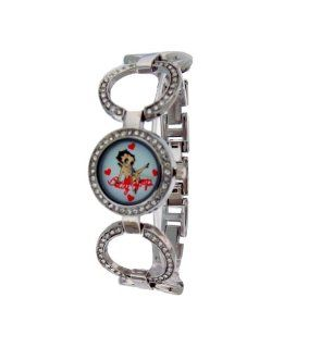Betty Boop #BB W167AS Women's Crystal Bezel Watch: Watches