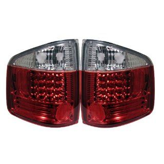 Chevy S10 94 01 / GMC Sonoma 94 04 / Isuzu Hombre 96 00 LED Tail Lights   Red Clear: Automotive
