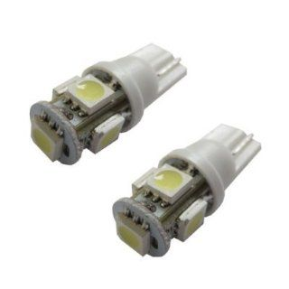 JLC 5 SMD 168 194 2825 T10 LED Car Interior Map Dome Light Bulbs, Xenon White 3 Pack Automotive