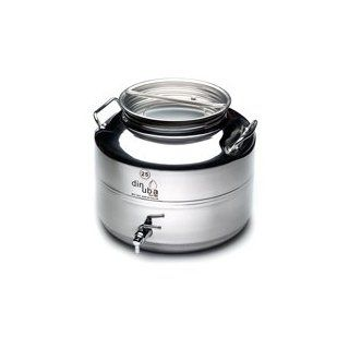 M5 Corporation Italian Made Stainless Steel Fusti Container, National Sanitation Foundation, 5 Liter/169 Ounce: Kitchen & Dining