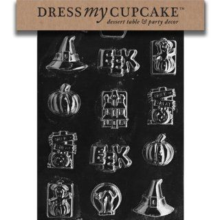 Dress My Cupcake DMCH005SET Chocolate Candy Mold, Assorted with Hat, Set of 6: Kitchen & Dining