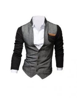 Tom's Ware Mens V Neck Button Up Slim Fit Fashion Cardigan at  Men�s Clothing store