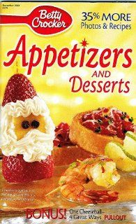 Betty Crocker Appetizers and Desserts Magazine DEC. 2001 #179: Betty Crocker: Books