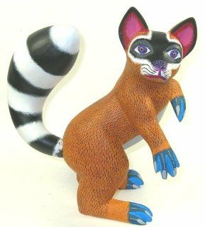 Raccoon Oaxacan Wood Carving 11.25 Inch Susanno Morales   Sculptures