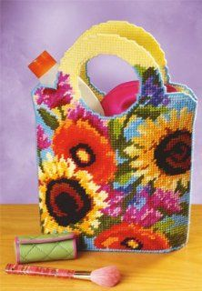 Janlynn Sunflower Purse Plastic Canvas Kit: Home & Kitchen