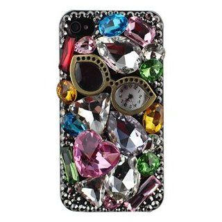 iPhone 4/4S Premium 3D Glass Pocket Watch Shell Dazzle Case  Palo Retail Packaging: Everything Else