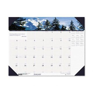 House of Doolittle Mountains of the World Photographic Monthly Desk Pad Calendar, 2010 Edition, 22 x 17 Inch, Mountains (HOD176): Office Products