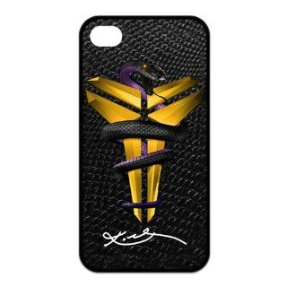 Fashion Popular NBA Los Angeles Lakers Mamba Kobe Bryant Pattern Durable Rubber Iphone 4 4s Case Cell Phones & Accessories
