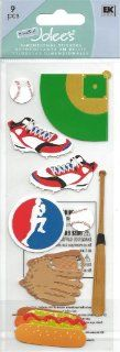 Baseball Theme Scrapbook Stickers (SPJJ179): Arts, Crafts & Sewing