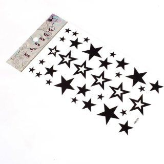 Cute Star Design Body Art Temporary Tattoo Sticker / Great Choice As Scars Cover, Also Perfect As A Decoration to Your Cell Phone, Laptop or Any Surface You Want: Toys & Games