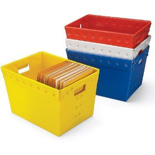 "UNITED VISUAL Corrugated Plastic Totes   181/2x131/4x113/8""   White   Lot of 5: Industrial & Scientific"