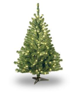 4 ft. Kincaid Spruce Pre Lit Christmas Tree   Clear   Christmas Trees