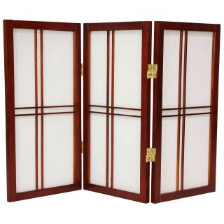 Desktop Double Cross 24 Inch Shoji Screen   Room Dividers