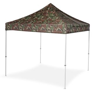 E Z Up 10 x 10 Eclipse II Pop Up Wind Vent Top Canopy   Camo   Canopies