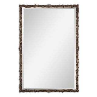 Roslyn Antiqued Gold Wall Mirror   25.75W x 38H in.   Wall Mirrors