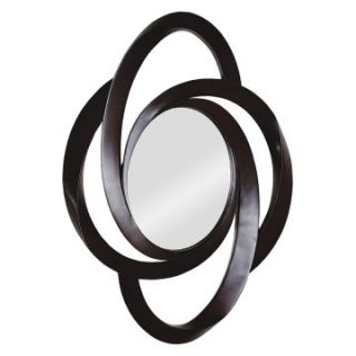 Ren Wil Dark Brown Ring Frame Wall Mirror   35W x 49H in.   Wall Mirrors