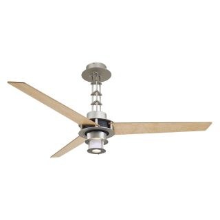 Minka Aire F529 L BS/CH San Francisco 56 in. Indoor Ceiling Fan   Brushed Steel with Chrome   Ceiling Fans