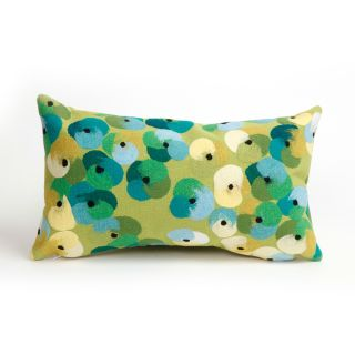 Liora Manne Pansy Indoor / Outdoor Throw Pillow   Decorative Pillows