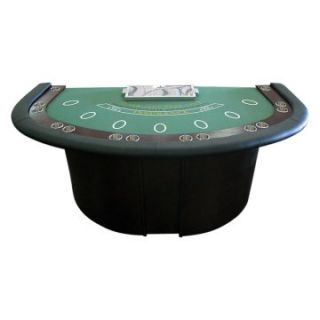 Deluxe Blackjack Table with Pedestal Legs Metal Locking Tray   Poker Tables