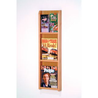 3 Magazine 6 Brochure Wall Display   Commercial Magazine Racks