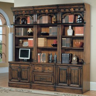 Parker House Barcelona 6 Piece Open Bookcase   Antique Vintage Walnut   Bookcases