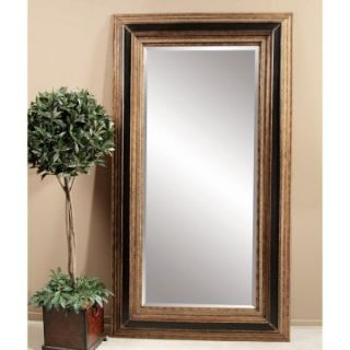 Antique Gold & Black Leaning Floor Mirror   54W x 96H in.   Floor Mirrors