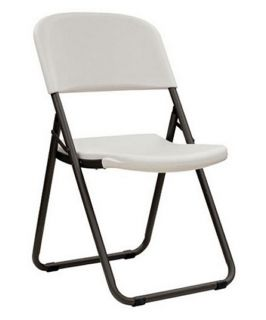 Lifetime Loop Leg Folding Chair   White   4 Pack   Card Tables & Chairs