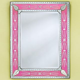 Eleina Pink Venetian Wall Mirror   50W x 55H in.   Wall Mirrors