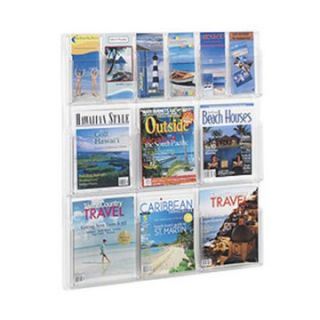 12 Pocket Wall Magazine/Pamphlet Rack   Commercial Magazine Racks
