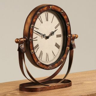 Antique Bronze Rustic Desktop Clock   Desktop Clocks
