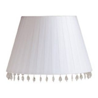 Laura Ashley SBF613 Aida 13.5 in. White faux silk barrel Shade   Lamp Shades