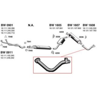 1993 1997 Toyota Corolla Tail Pipe   Ansa, Direct fit, Natural, Aluminized steel