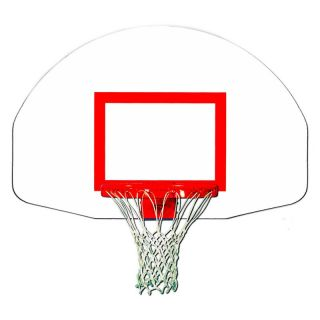 Trigon Sports Fan Shape Steel Backboard with Target   Basketball Equipment