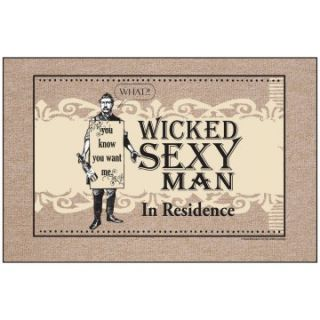 Wicked Sexy Man Indoor/Outdoor Doormat   Outdoor Doormats