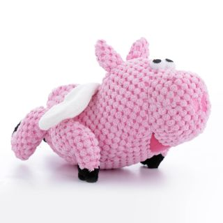 goDog Checkers Flying Pig Dog Toy with Chew Guard   Accessories