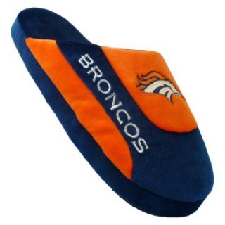 Comfy Feet NFL Low Pro Stripe Slippers   Denver Broncos   Mens Slippers