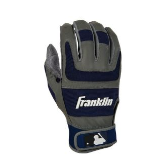 Franklin Shok Sorb Pro Series Adult Batting Gloves   Gray/Navy   Players Equipment
