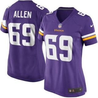 Nike Jared Allen Minnesota Vikings Womens New 2013 Game Jersey   Purple